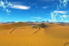 Fantasieausländerplanet Wiedergabe 3d Stockfotos