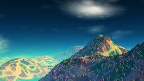 Fantasieausländerplanet Wiedergabe 3d Lizenzfreie Stockbilder