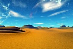 Fantasieausländerplanet Wiedergabe 3d Lizenzfreies Stockfoto
