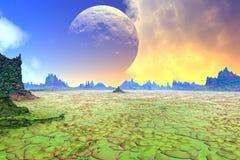 Fantasieausländerplanet Wiedergabe 3d Lizenzfreie Stockfotografie