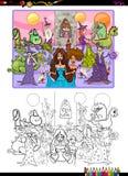 Fantasiecharaktere, die Seite färben Stockfotos