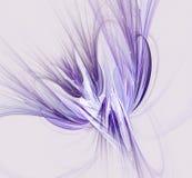 Fantasiefractal ontwerp in blauwe en purpere kleuren Digitaal art stock illustratie