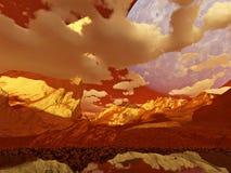 Fantasielandschaft (rot) Lizenzfreie Stockfotografie