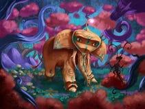 Fantasielefant arkivfoto