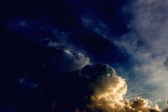 Fantasienächtlicher himmel Lizenzfreies Stockfoto