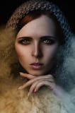Fantasieporträt von Sandstürmen einer Dame Stockfotos