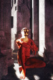 Fantasiepriester in de tempel Royalty-vrije Stock Fotografie
