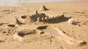 Fantasier i sandstrand royaltyfria bilder