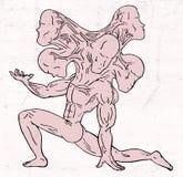 fantasierijke mutant royalty-vrije illustratie