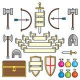 Fantasiesymbolen en Rollen Stock Afbeeldingen