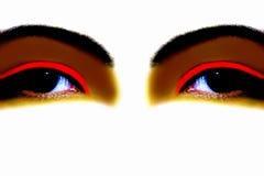 Fantasievolle Augen Stockfoto