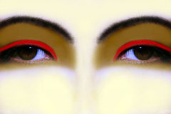 Fantasievolle Augen Stockfotos