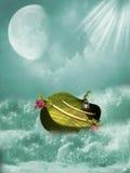 Fantasifartyg stock illustrationer