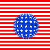 fantasiflagga USA stock illustrationer