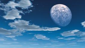 Fantasihimmelbakgrund Arkivbilder