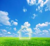 fantasiland för grönt hus royaltyfri fotografi
