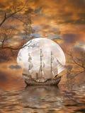 Fantasilandskap royaltyfri illustrationer
