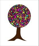 fantasin blommar den magical treen Arkivbild