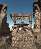 fantasin fördärvar tempelet Royaltyfria Foton