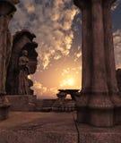 fantasin fördärvar tempelet Arkivfoton