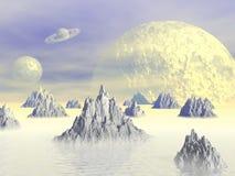 Fantasin landskap Arkivbild