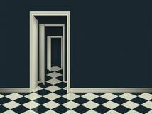 Fantasirum med öppna dörrar för träd Royaltyfri Fotografi