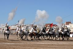 Fantasishow i Marocko-Safi Marocko royaltyfri bild
