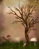 Fantasiträdgård royaltyfri illustrationer