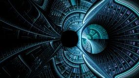 Fantasivärldarna av fractals Arkivbild
