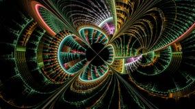 Fantasivärldarna av fractals Arkivbilder