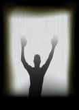 Fantasma alla finestra Fotografia Stock