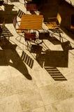 Fantasma & tabela & cadeiras Imagens de Stock Royalty Free
