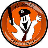 Fantasma assustador da polícia de Halloween Foto de Stock Royalty Free