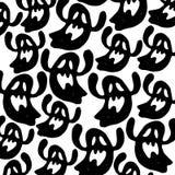 fantasma assustador do medo dos desenhos animados da ilustração do Dia das Bruxas do vetor ilustração do vetor