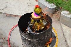 Fantasma bruciante dei soldi per il fantasma cinese Fotografia Stock Libera da Diritti