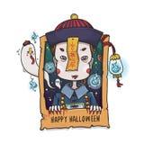 Fantasma cinese del vampiro di luppolizzazione per Halloween fotografie stock