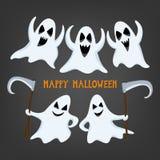 Fantasma de Dia das Bruxas com expressões sortidos Fotografia de Stock