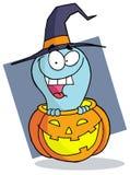 Fantasma de Halloween do personagem de banda desenhada Fotografia de Stock