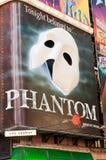Fantasma de la ópera en Broadway foto de archivo