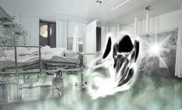 Fantasma del paciente en la sala Imagen de archivo libre de regalías