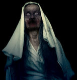 Fantasma dello zombie isolato fotografia stock