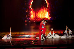 Fantasma do homem--A mágica mágica histórica do drama da música e da dança do estilo - Gan Po Imagens de Stock Royalty Free