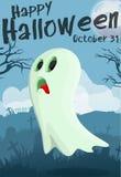 Fantasma dos desenhos animados de Dia das Bruxas Fotografia de Stock Royalty Free