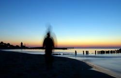 Fantasma en la playa Fotografía de archivo
