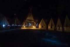 Fantasma en un campo del explorador Foto de archivo