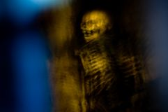 Fantasma esquelético fantasmagórico Imagen de archivo libre de regalías