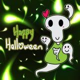 Fantasma felice di Halloween amichevole Fotografie Stock Libere da Diritti