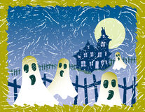 Fantasma Grunge de Halloween ilustração stock