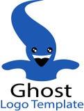 Fantasma Halloween e modello di logo Fotografia Stock