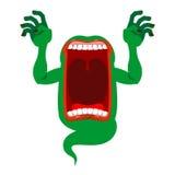 Fantasma misterioso Alcohol hambriento enojado Gritos asustadizos del fantasma Ho libre illustration